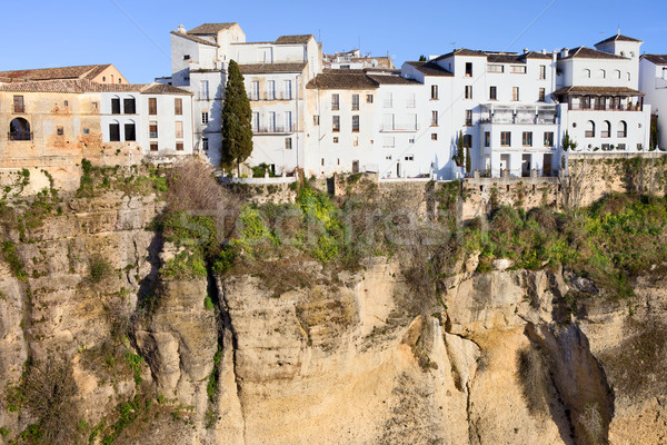 Stock photo: Houses on a Cliff in Ronda Town