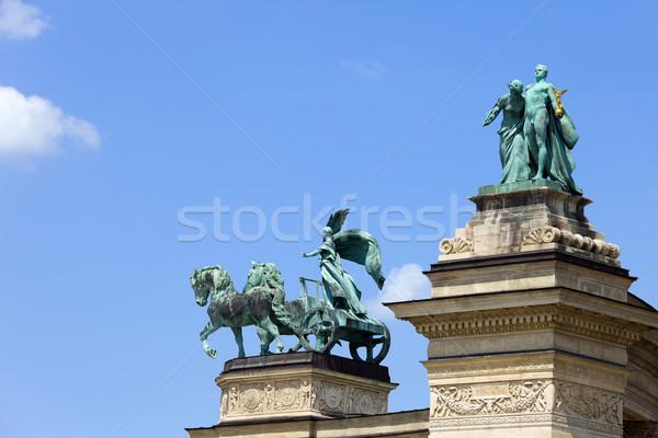 Budapeste heróis praça Hungria paz conhecimento Foto stock © rognar