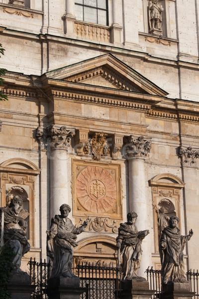 Templom Krakkó óváros Lengyelország épület szobor Stock fotó © rognar