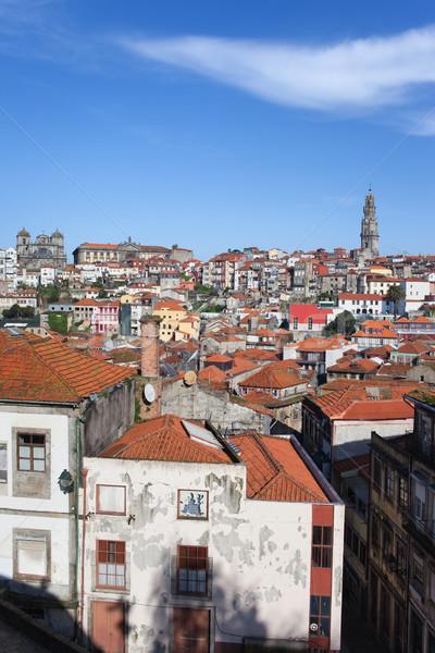景観 ポルトガル 歴史的 市 センター 建物 ストックフォト © rognar