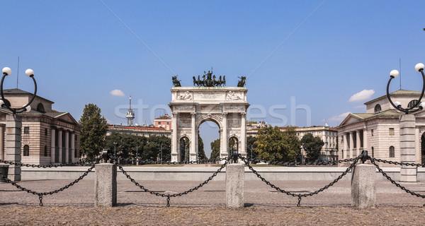 ペース ミラノ 市 ゲート イタリア レトロな ストックフォト © Roka