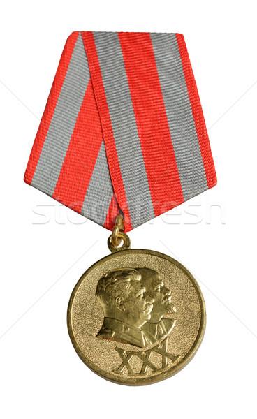 Orosz érem közelkép tárgy fehér díj Stock fotó © Roka