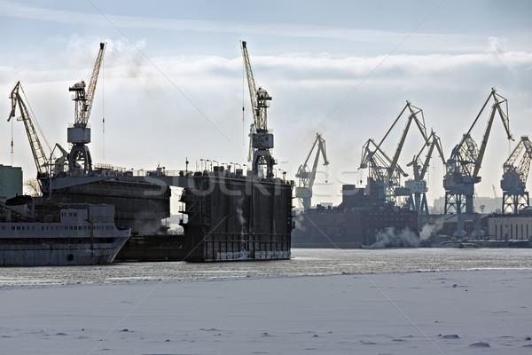 貨物 ポート ビジネス 建設 海 産業 ストックフォト © Roka