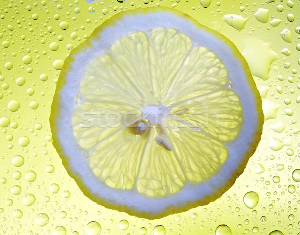 Fetta limone drop giallo frutta Foto d'archivio © Roka