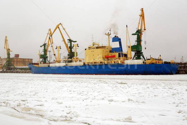 ストックフォト: 船 · オフィス · 日没 · 業界 · 作業