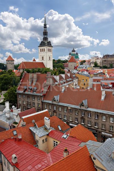 Tallinn città vecchia view Estonia business muro Foto d'archivio © Roka