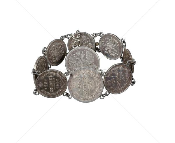 Karkötő öreg érmék orosz pénz klasszikus Stock fotó © Roka