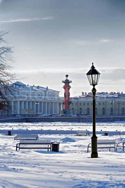Szent Oroszország környék égbolt ház tavasz Stock fotó © Roka