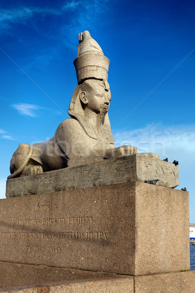 Sphinx on embankment of the river Neva Stock photo © Roka