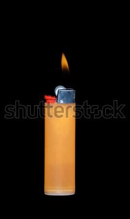 öngyújtó égő láng fekete tűz szín Stock fotó © Roka
