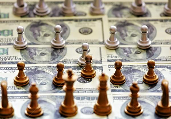 金融 チェス チェスの駒 ドル フィールド お金 ストックフォト © Roka