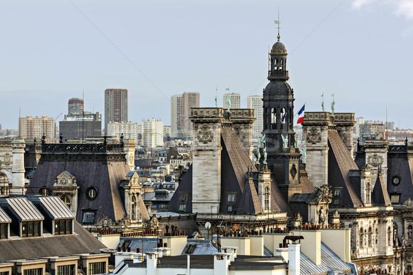 パノラマ パリ センター 建物 都市 スカイライン ストックフォト © Roka