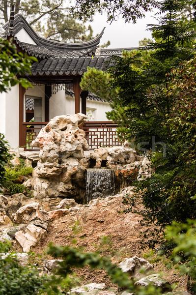 アジア 庭園 日本語 塔 森林 風景 ストックフォト © Roka