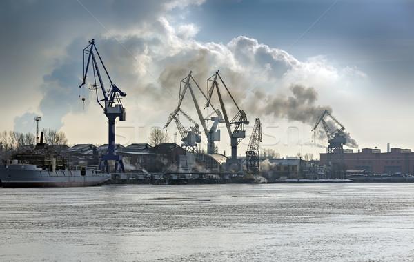 ストックフォト: 貨物 · ポート · ビジネス · 建設 · 海 · 産業