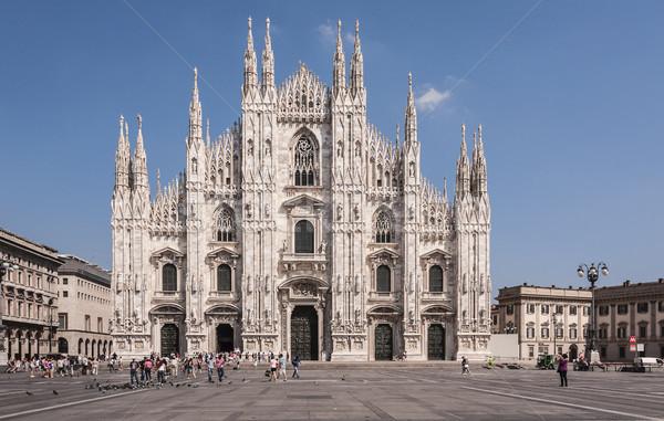 Stockfoto: Milaan · kathedraal · kerk · Italië · gebouw · bouw