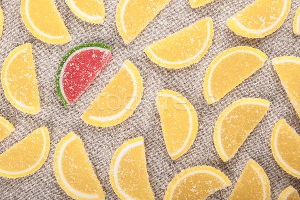 частей форма лимона Ломтики один арбуза Сток-фото © Romas_ph