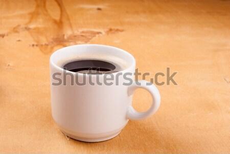 ストックフォト: エスプレッソ · コーヒー · 白 · 中国 · カップ · 木材