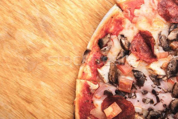 пиццы разделочная доска таблице куриные сыра Сток-фото © Romas_ph