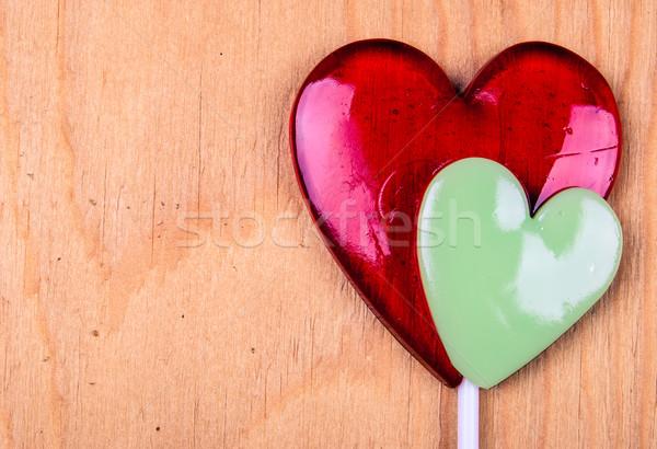 сердце корзины красный древесины текстуры свадьба Сток-фото © Romas_ph