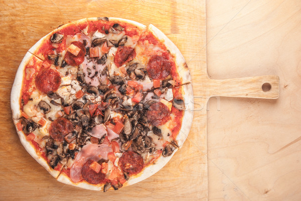Stock photo: Pizza closeup