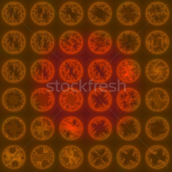 Tekstury czerwony circles sztuki tkaniny kolor Zdjęcia stock © Romas_ph