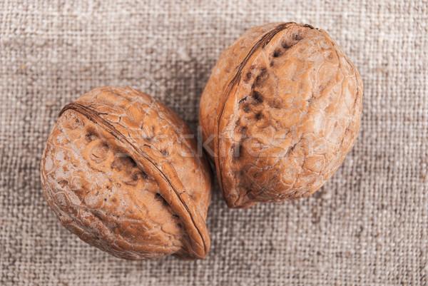 греческий орехи три коричневый текстильной Сток-фото © Romas_ph