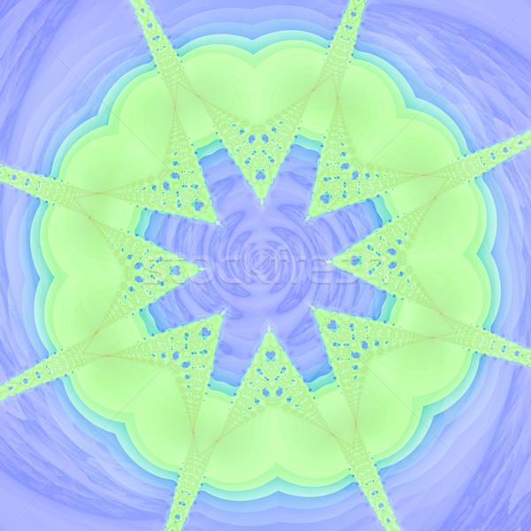 текстуру фона зеленый синий цветами искусства ткань Сток-фото © Romas_ph