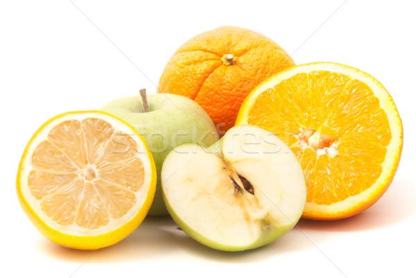 оранжевый большой яблоко лимона Ломтики изолированный Сток-фото © Romas_ph