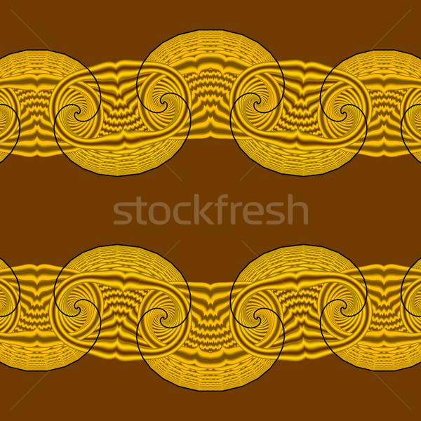 бесшовный желтый орнамент коричневый искусства ткань Сток-фото © Romas_ph