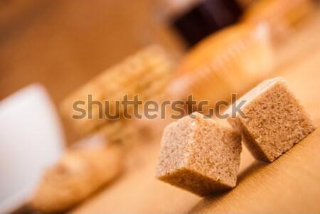 Zucchero di canna primo piano texture alimentare sfondo cucina Foto d'archivio © Romas_ph