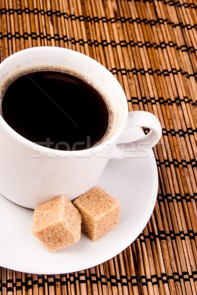 Table cassonade espresso blanche tasse Photo stock © Romas_ph