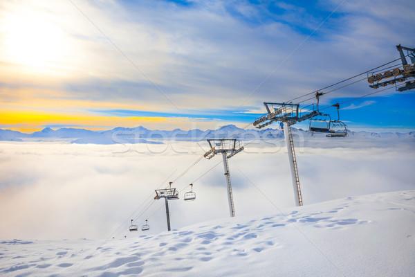 Wygaśnięcia francuski alpy narty resort serca Zdjęcia stock © romitasromala