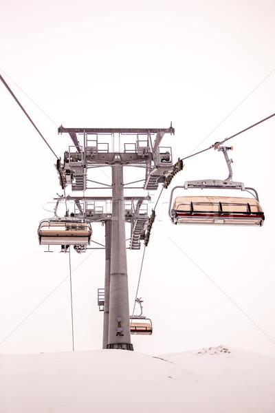 лыжных Председатель лифт Альпы курорта Сток-фото © romitasromala