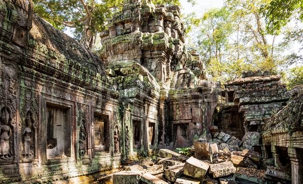 Ta Prohm Temple, Cambodia Stock photo © romitasromala