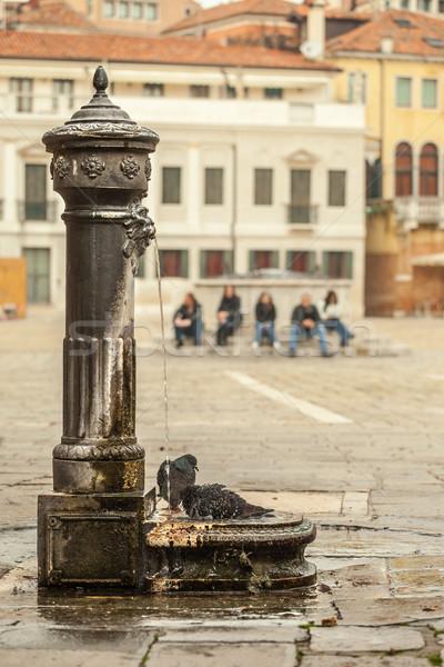 Fontanna woda pitna Wenecja tradycyjny Włochy wody Zdjęcia stock © romitasromala