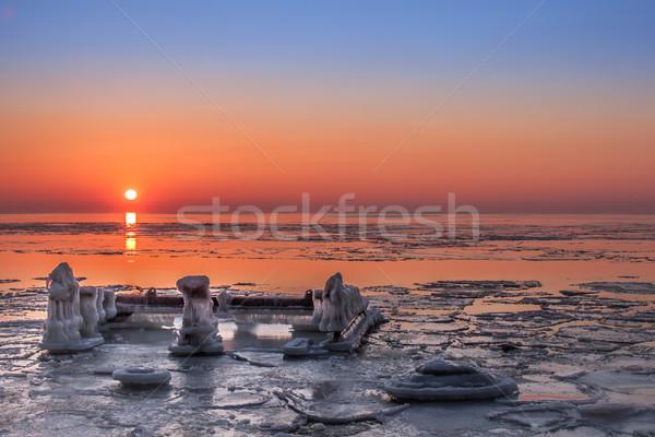 Zdjęcia stock: Zimą · wygaśnięcia · Litwa · morze · bałtyckie · niebo · wody