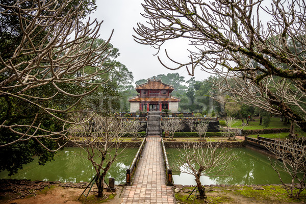 Ming Mang Emperor Tomb in Hue Stock photo © romitasromala