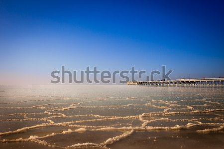 Zamrożone morze bałtyckie most morza Litwa widoku Zdjęcia stock © romitasromala
