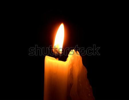 сжигание свечу внутри Церкви свет поклонения Сток-фото © ronfromyork