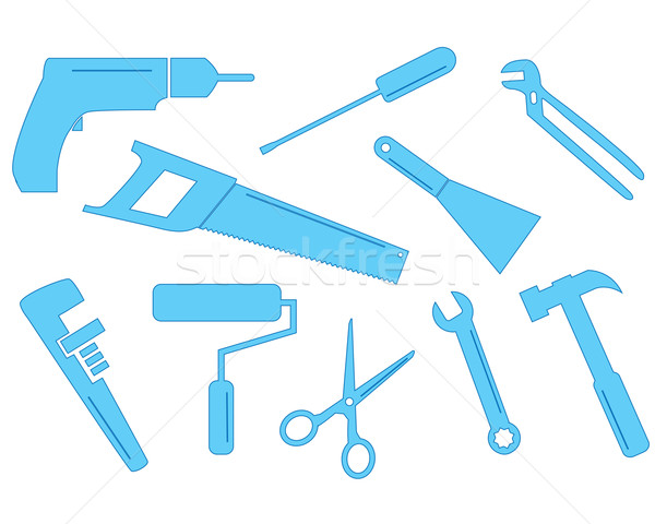 Stock photo: Ten tool shapes
