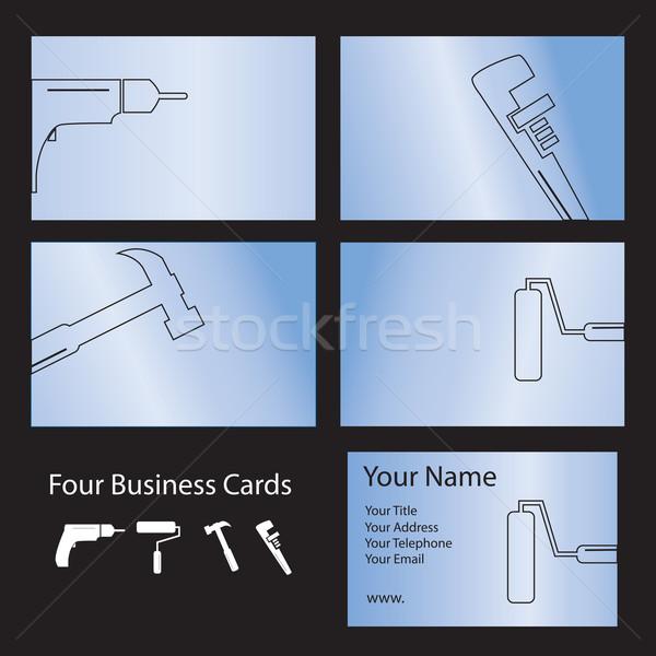 четыре инструментом визитной карточкой Сток-фото © ronfromyork