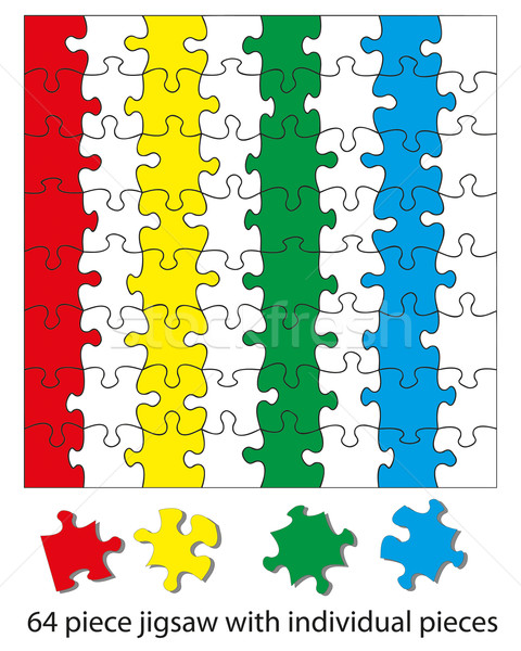 64 piece jigsaw Stock photo © ronfromyork