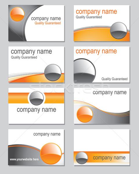 визитной карточкой оранжевый аннотация фон пространстве Сток-фото © ronfromyork