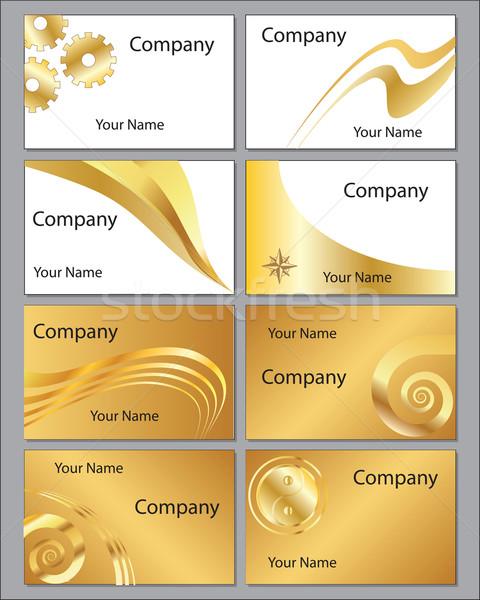 восемь золото визитной карточкой градиенты Сток-фото © ronfromyork