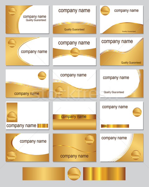 Gold coloured business cards Stock photo © ronfromyork