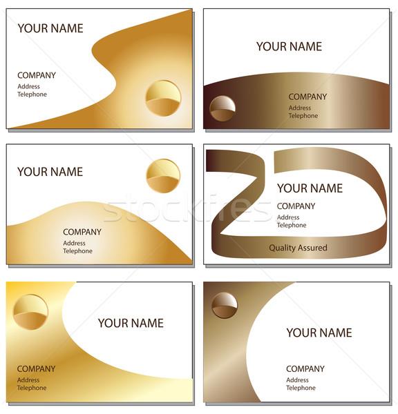 шесть визитной карточкой бронзовый золото Сток-фото © ronfromyork
