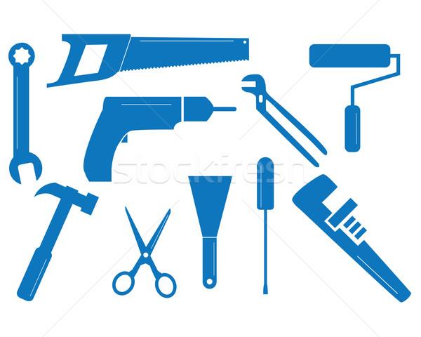 Mixed tool set Stock photo © ronfromyork
