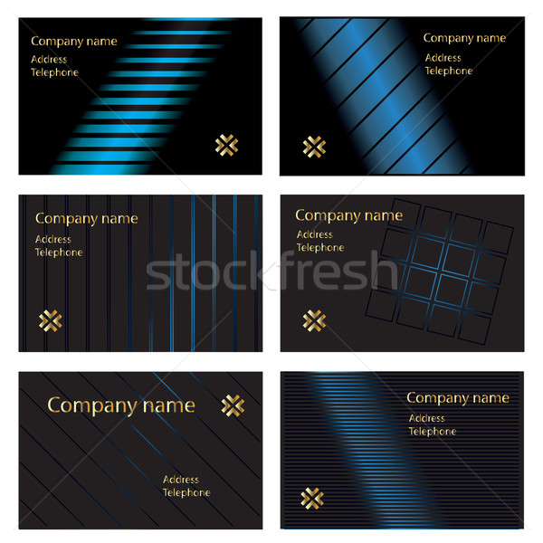 black gold and blue business cards Stock photo © ronfromyork