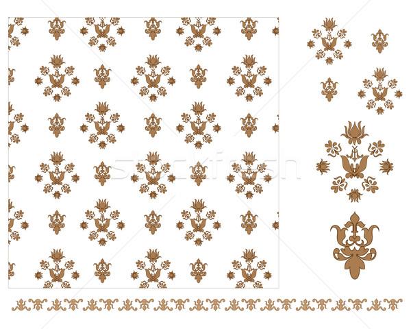 коричневый повторять шаблон бесшовный вектора Сток-фото © ronfromyork