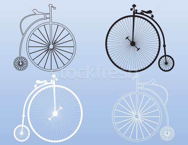 Vintage penny-farthing shapes Stock photo © ronfromyork